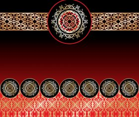 Black red background pattern decoration vector background