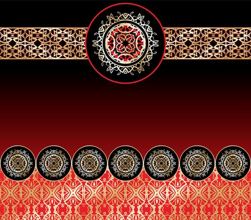 Black red background pattern decoration vector background