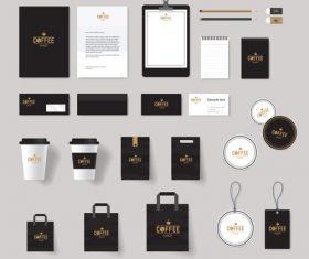 Black suit brand design vector