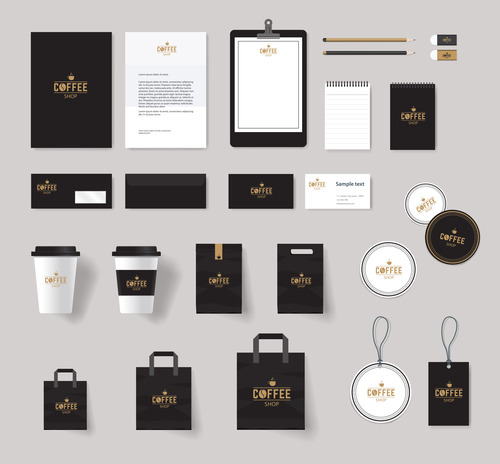 Black suit brand design vector