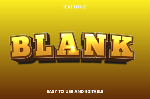 Blank 3d text style effect vector