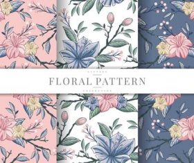 Blooming flowers seamless pattern vector