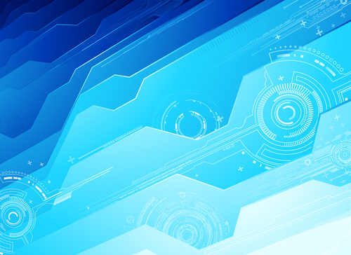 Blue technology abstract background vector