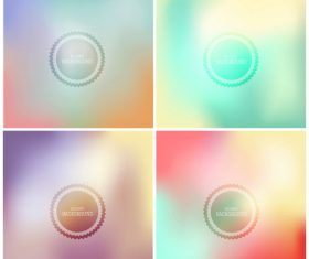 Blurry gradient abstract background vector