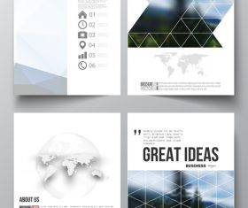 Booklet cover design template vector