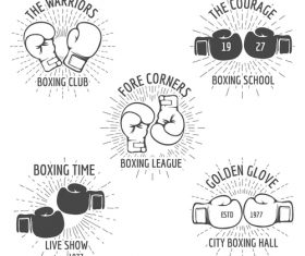 Boxing club emblem vector
