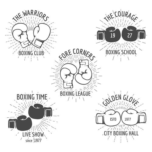Boxing club emblem vector