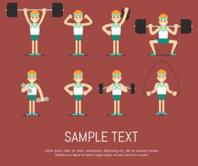 Boy sport cartoon illustration vector