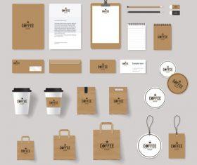 Branding suit design vector