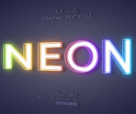 Bright graphic text style vector