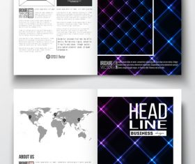 Bright lines cover design template vector