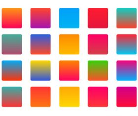 Bright vibrant colorful set of gradients background vector
