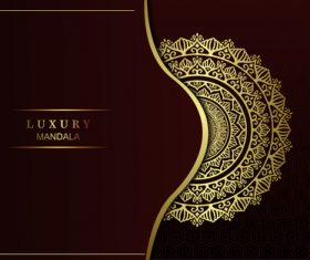 Brown background luxury mandala vector