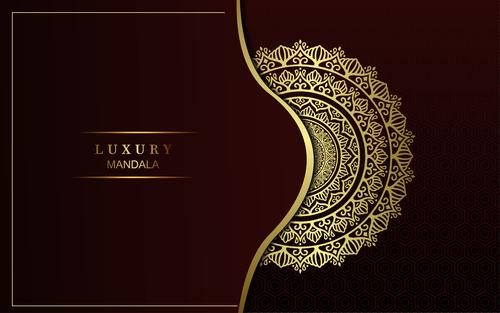 Brown background luxury mandala vector