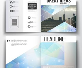 Business brochure cover design template vector