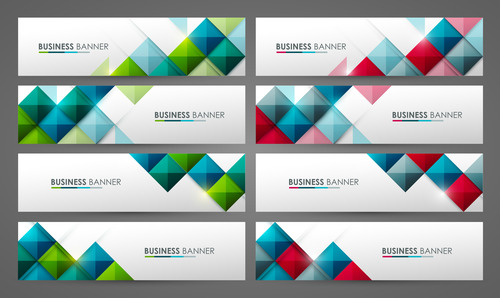 Business color banner vector