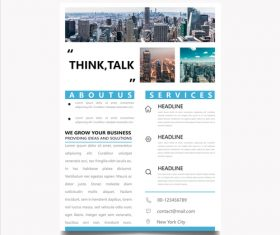 Business planning brochure template vector