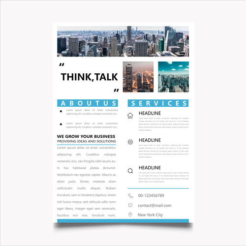 Business planning brochure template vector