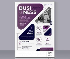 Business poster modern template for printing vector