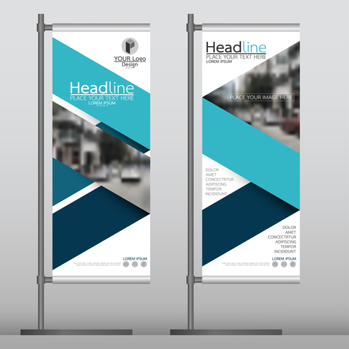 Business stand banner vector