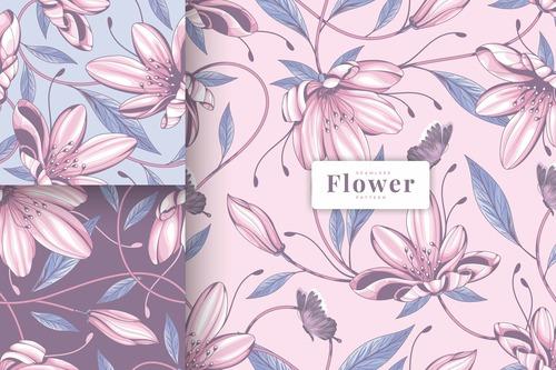 Buttercup flower seamless pattern vector