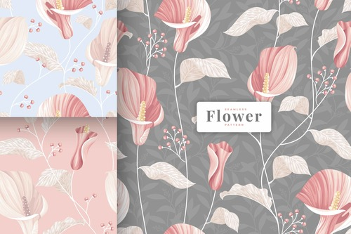 Calla lily flowers pattern vector