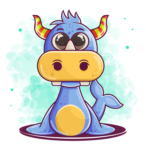 Cartoon animal illustration vector