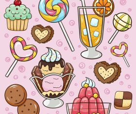 Cartoon delicious food vector