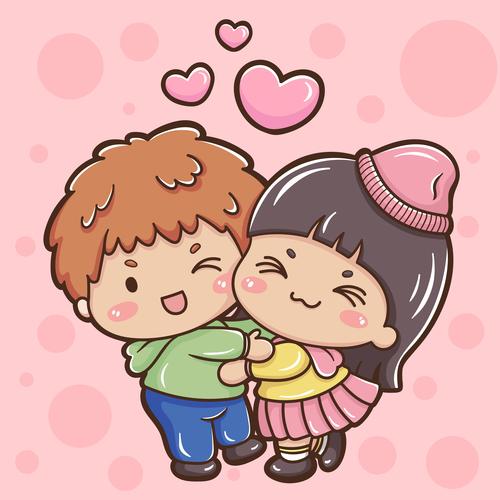 Cartoon illustration valentine vector
