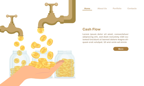 Cash flow concept illustration vector