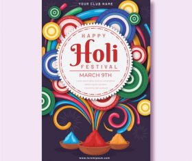 Celebrate holi festival color poster vector