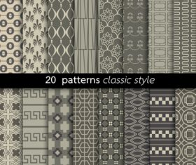 Classic style pattern vector