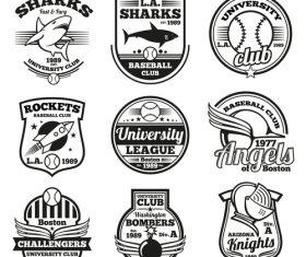 Club emblem vector