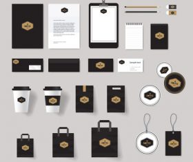 Coffee corporate brand design vector
