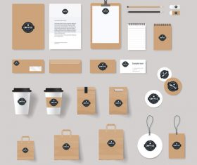 Coffee shop brown brand design vector