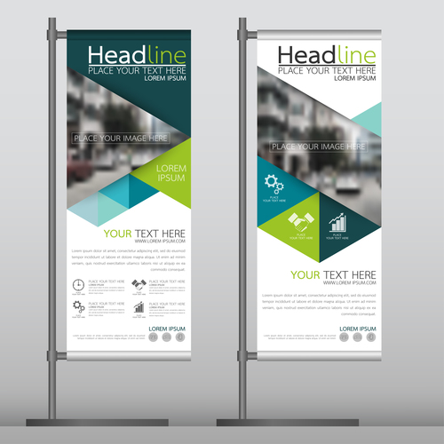 Colorful business vertical banner vector