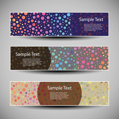 Colorful dots abstract banner background vector
