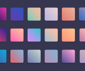 Colorful gradient badge set vector