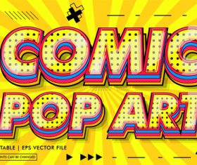 Comic pop art text style vector