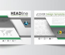 Company brochure cover design template vector