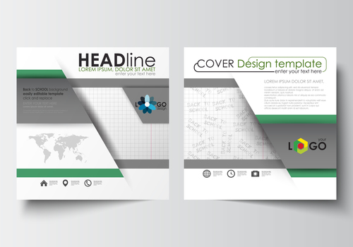 Company brochure cover design template vector