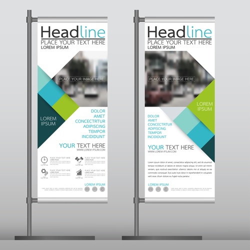 Company promotion vertical banner vector