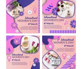 Congratulations Women's Day template design vector