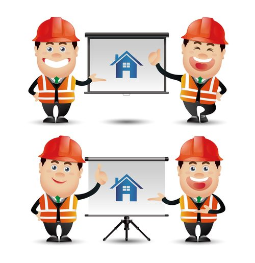 Construction professional engineer vector