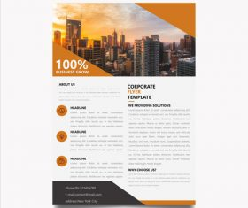 Corp promote flyer vector