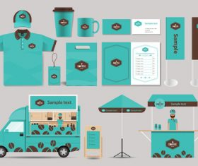 Corporate branded design of food vector