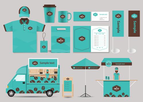 Corporate branded design of food vector
