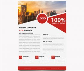 Corporate marketing business flyer vector