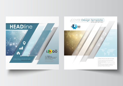 Cover design flyer template vector
