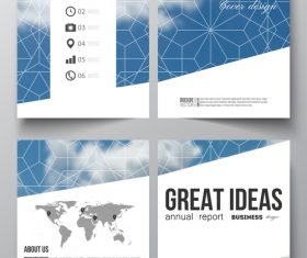 Cover design template annual information vector